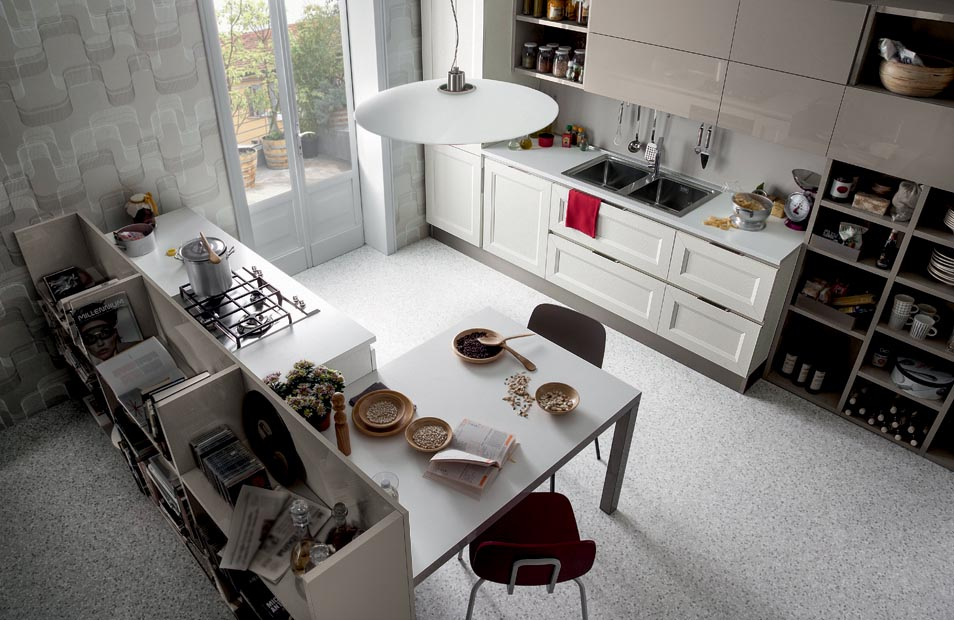 Mise en situation du modèle de cuisine Tablet go link