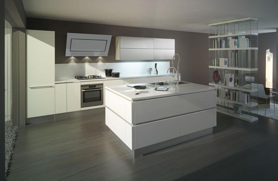 Mise en situation du modèle de cuisine Oyster decorativo