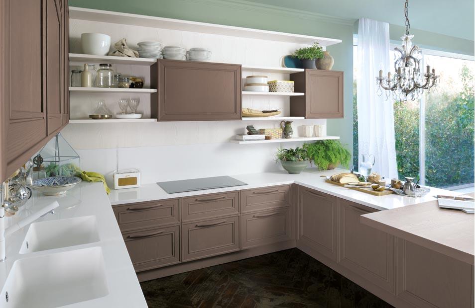 Mise en situation du modèle de cuisine Elegante